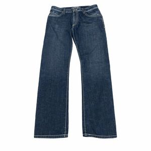 Robin's Jean with Leather Trim Pockets Size 34